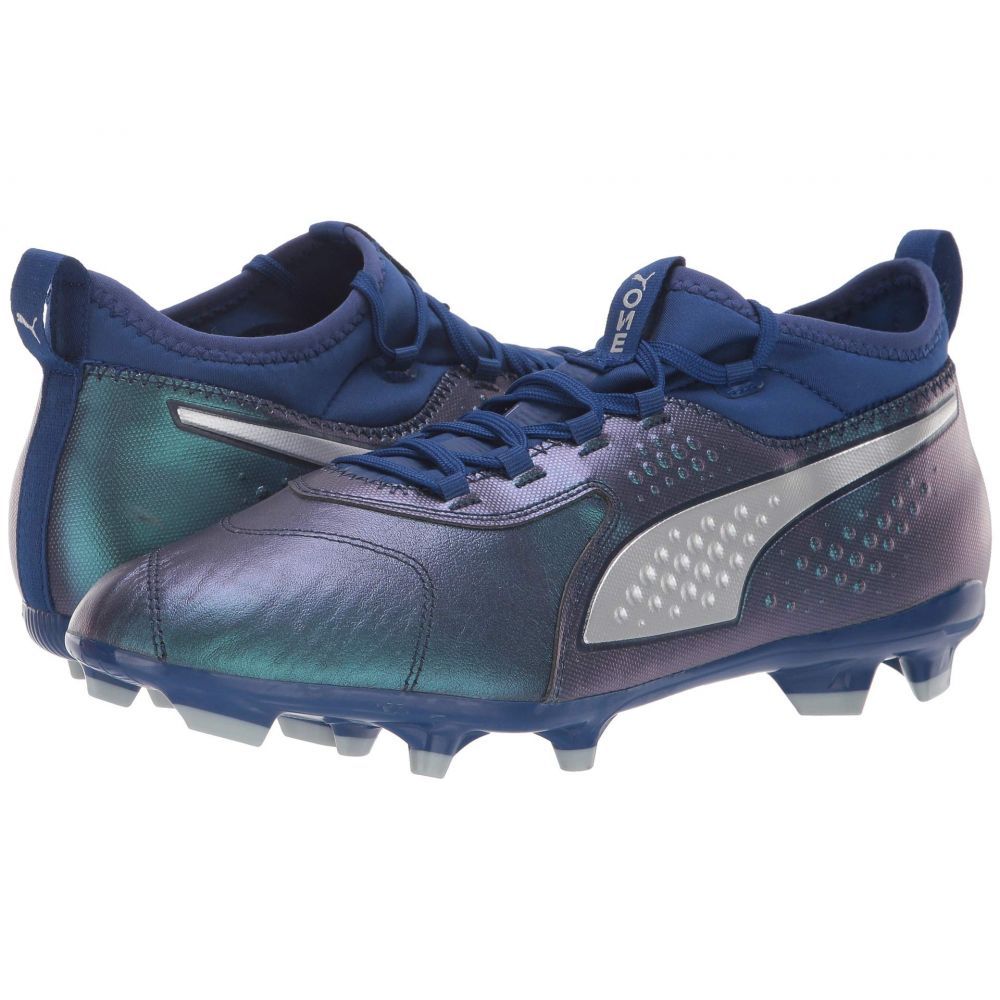 プーマ PUMA メンズ サッカー シューズ・靴【One 3 Leather FG】Sodalite Blue/Puma Silver/Peacoat