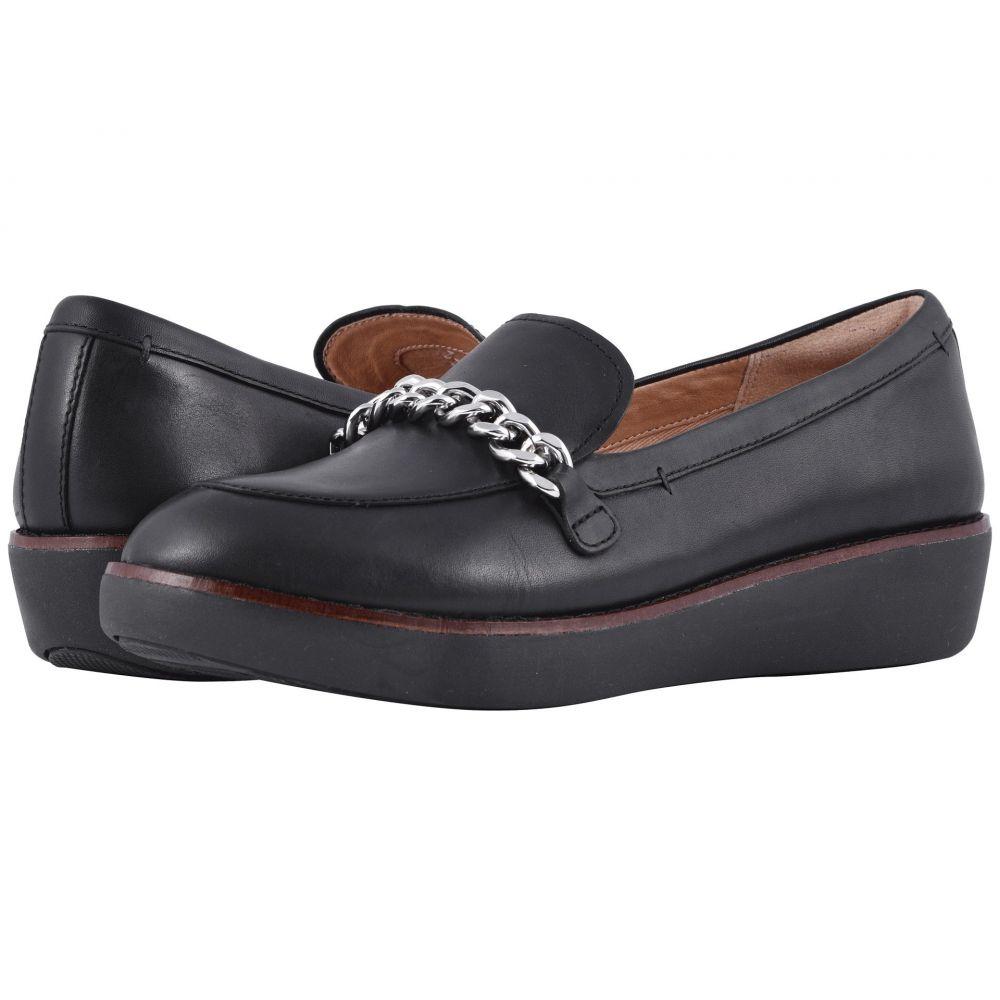 フィットフロップ FitFlop レディース シューズ・靴 ローファー・オックスフォード【Petrina Chain Moccasin】Black