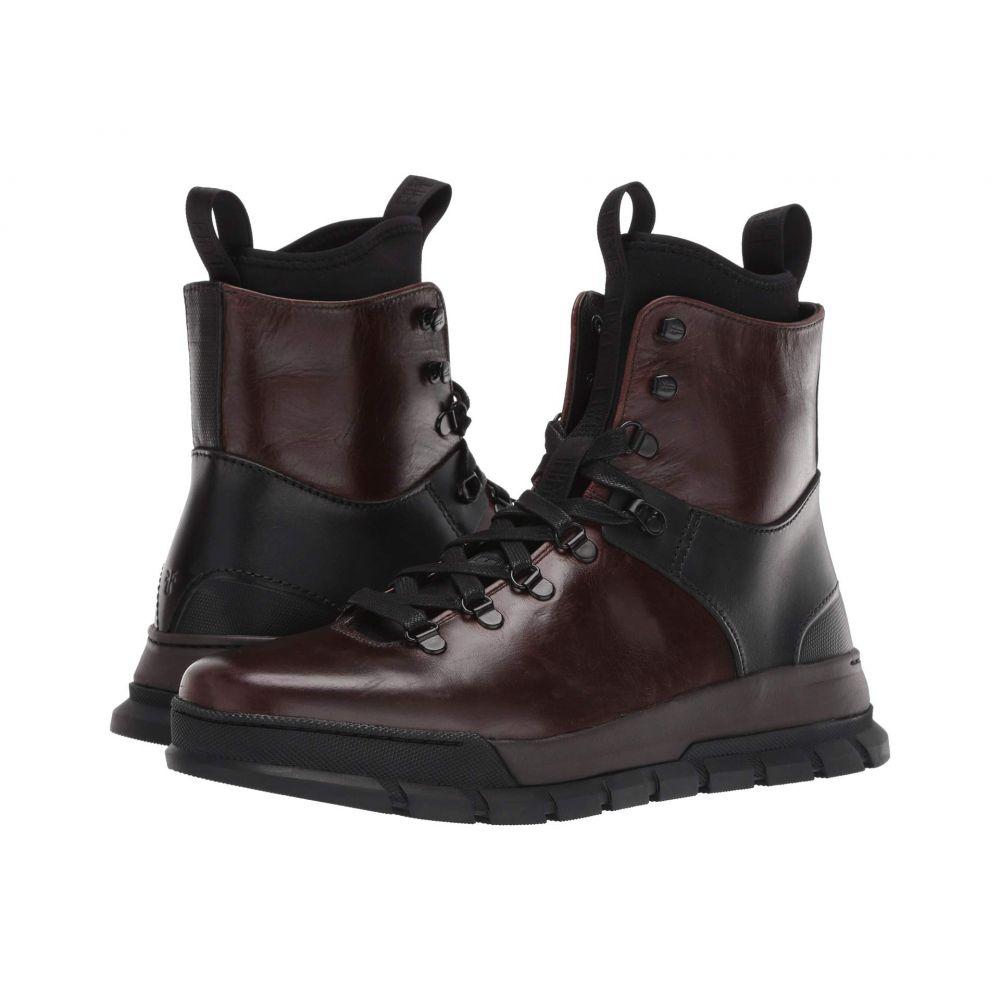 フライ Frye メンズ ハイキング・登山 シューズ・靴【Explorer Hiker】Dark Brown Multi Smooth Pull-Up/Smooth Full Grain