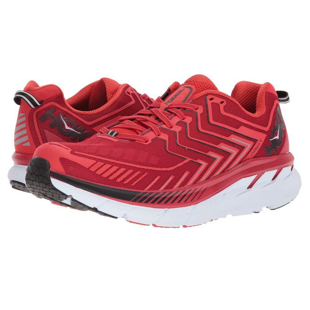 ホカ オネオネ Hoka One One メンズ ランニング・ウォーキング シューズ・靴【Clifton 4】Haute Red/High Risk Red