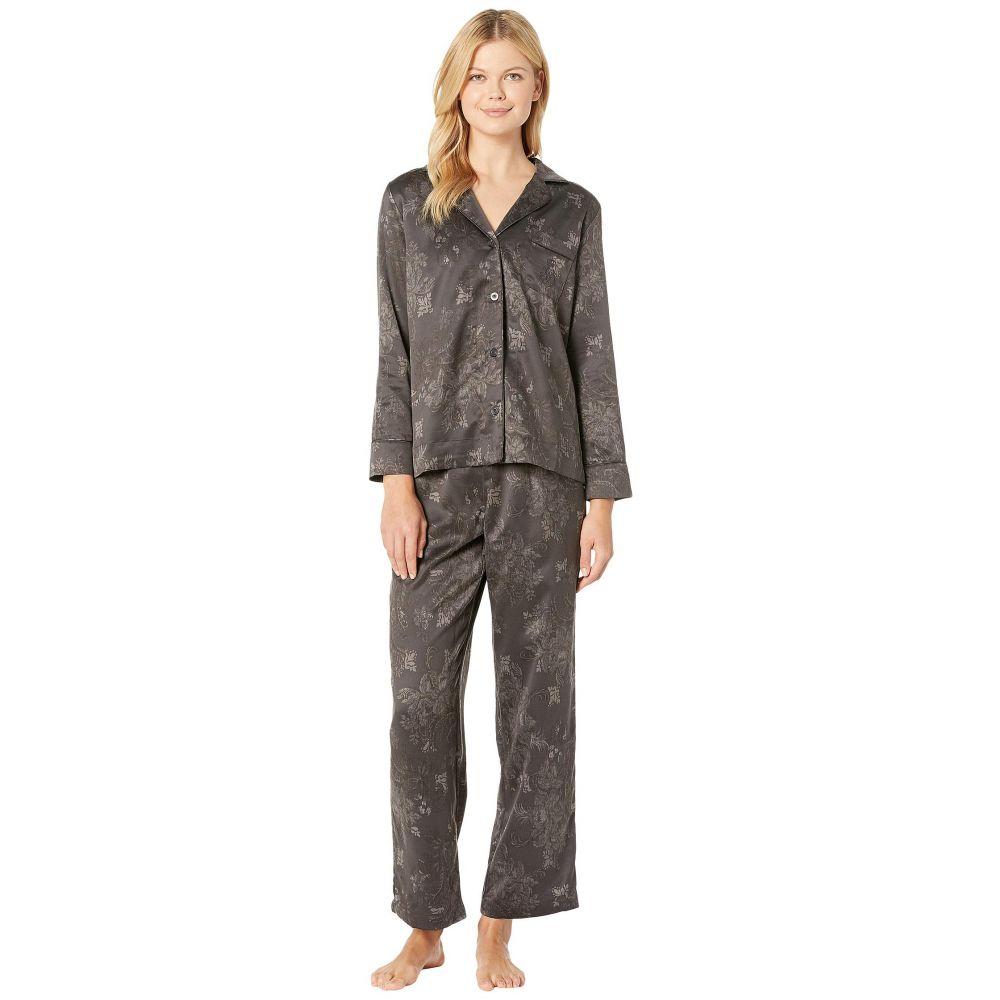 ラルフ ローレン LAUREN Ralph Lauren レディース インナー・下着 パジャマ・上下セット【Tonal Satin Notch Collar Pajama Set】Black