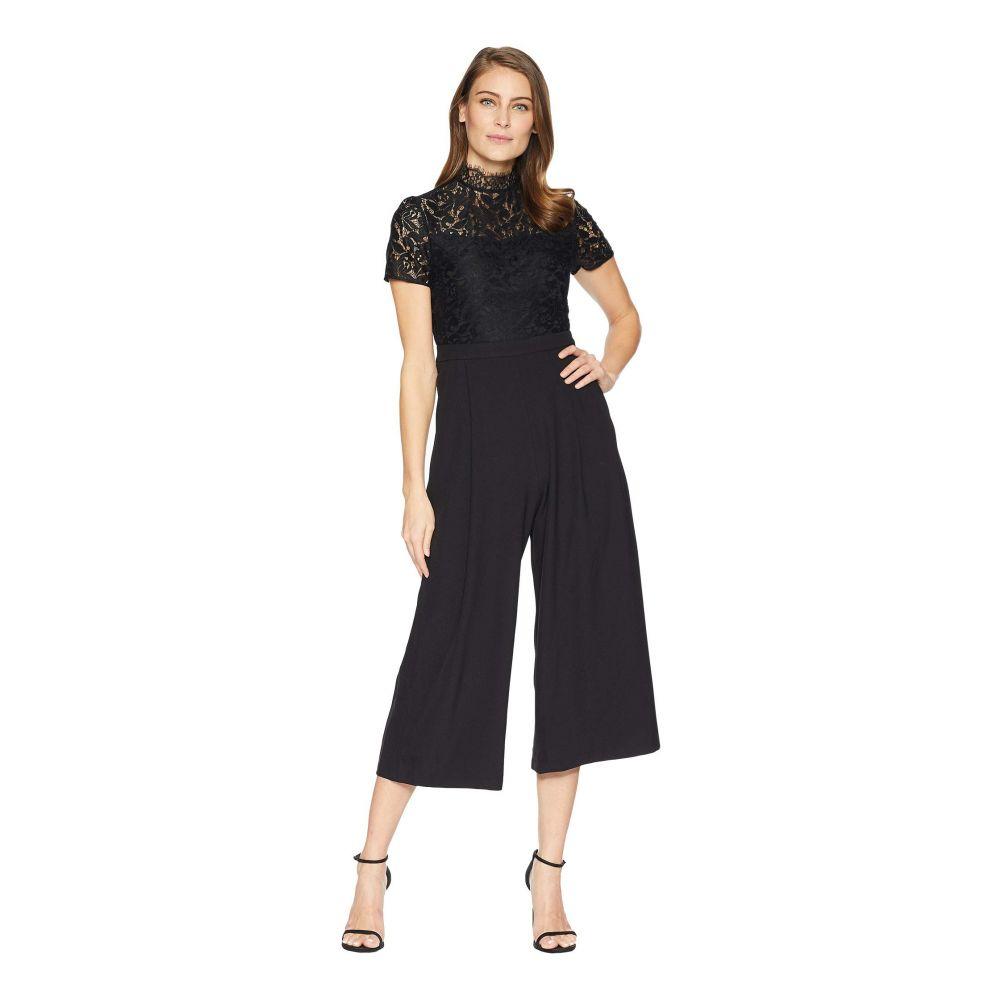 キャサリン マランドリーノ CATHERINE Catherine Malandrino レディース ワンピース・ドレス オールインワン【Lace Cropped Jumpsuit】Black Beauty