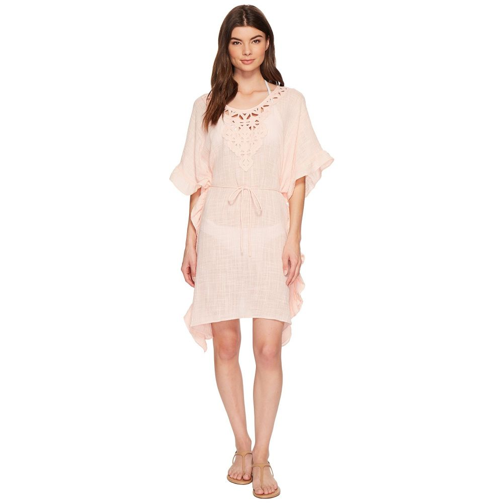 【在庫あり】 シーフォリー Seafolly レディース 水着・ビーチウェア Kaftan Cover-Up】Peach ビーチウェア【Palm Beach シーフォリー Geo Lace Ruffled Kaftan Cover-Up】Peach Melba, ゴルフ観音さま:98a6258f --- canoncity.azurewebsites.net