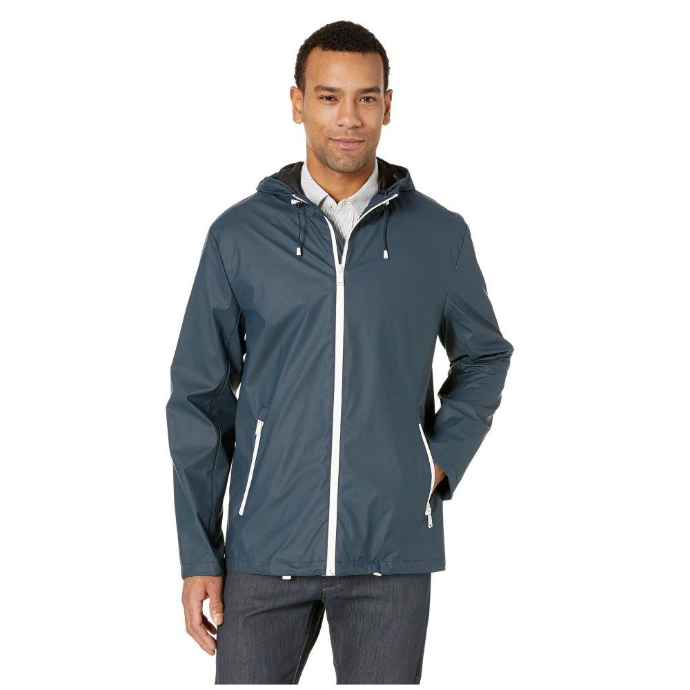 コールハーン Cole Haan メンズ アウター レインコート【Hooded Button Front Rain Jacket】Navy