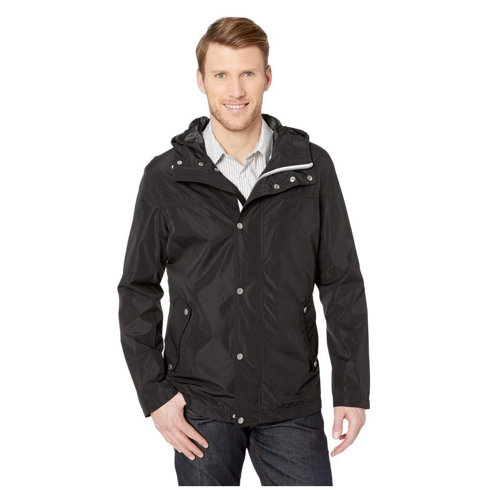コールハーン Cole Haan メンズ アウター レインコート【Button Front Tech Rain Jacket】Black
