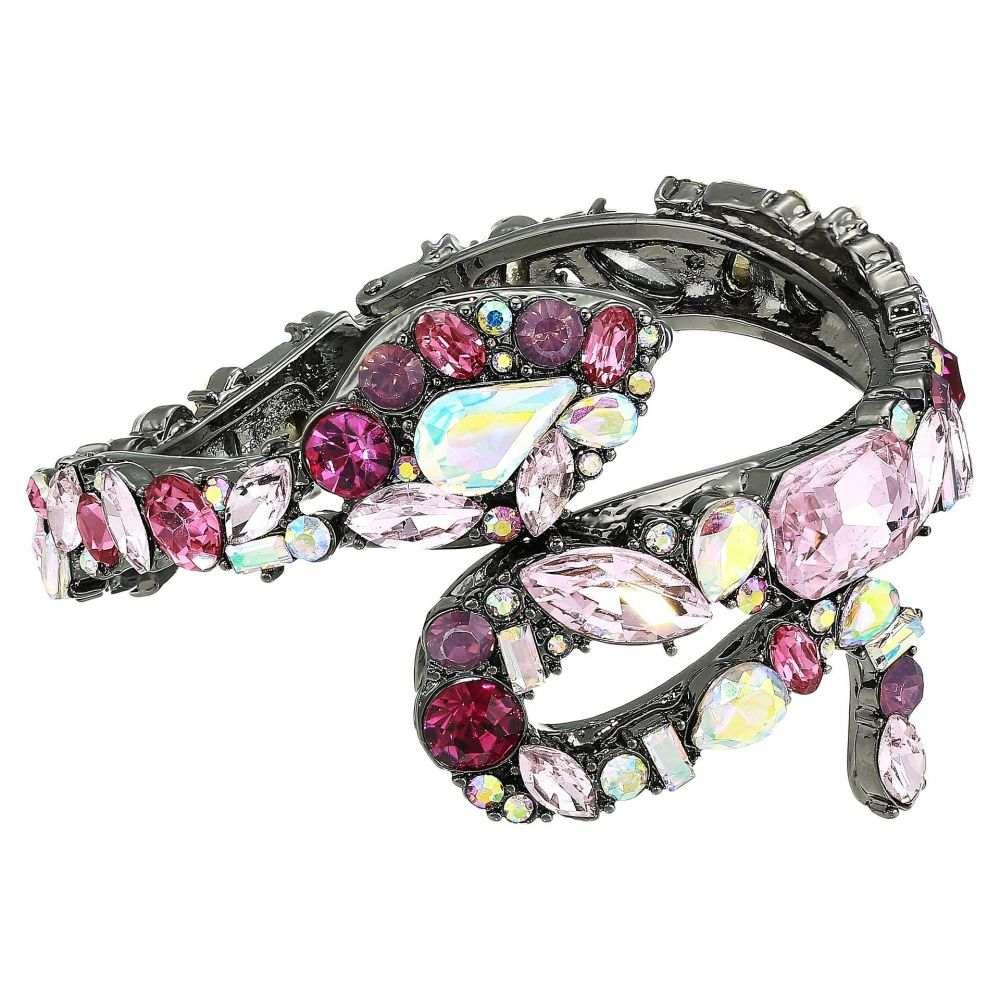 ベッツィ ジョンソン Betsey Johnson レディース ジュエリー・アクセサリー ブレスレット【Stone Snake Hinged Bangle Bracelet】Pink