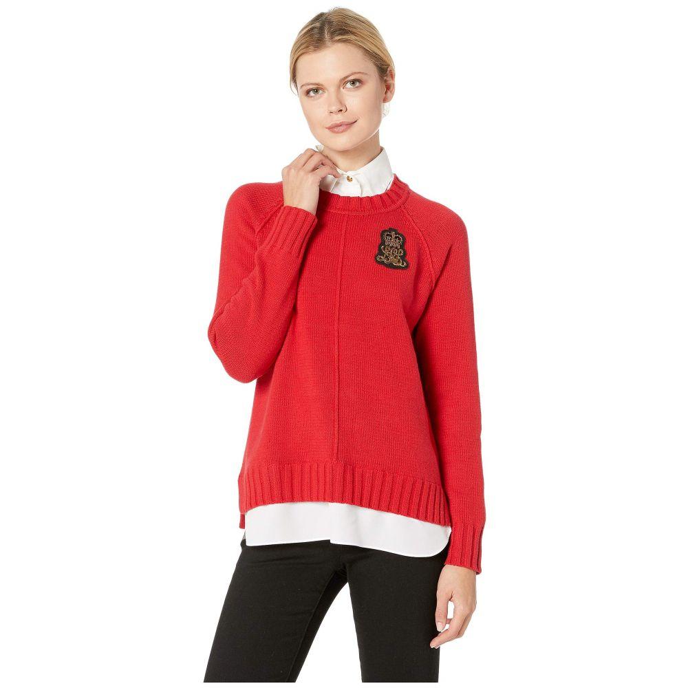 ラルフ ローレン LAUREN Ralph Lauren レディース トップス ニット・セーター【Bullion-Patch Layered Shirt】Lacquer Red