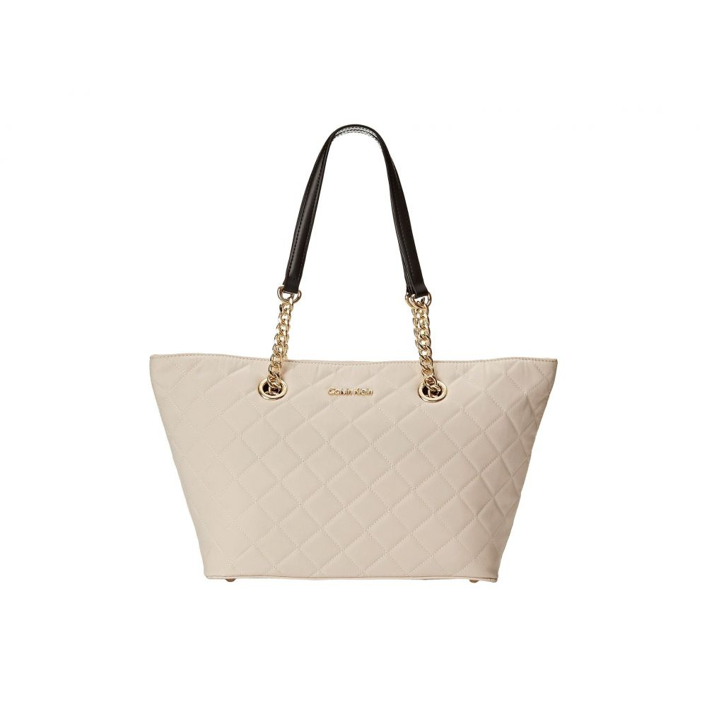 カルバンクライン Calvin Klein レディース バッグ トートバッグ【Florence Dressy Quilted Nylon Tote】Off-White/Black