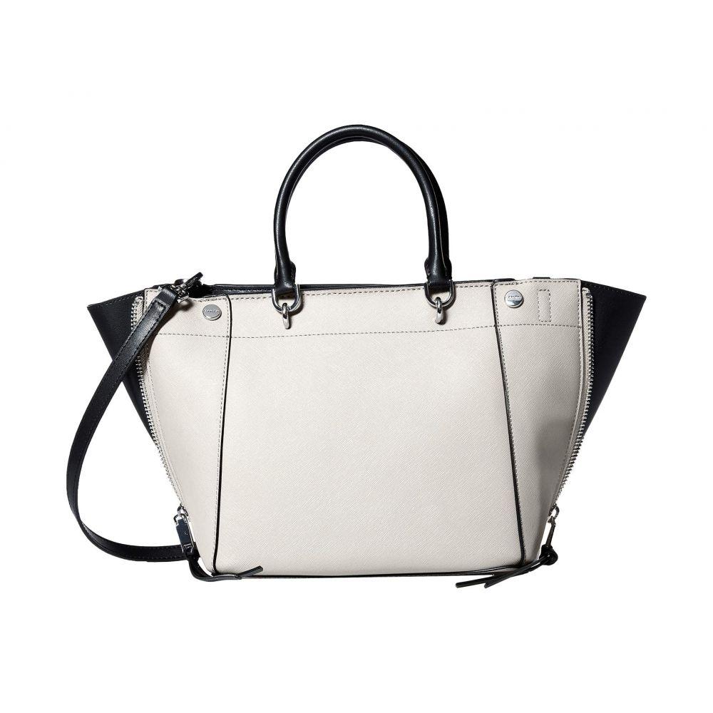 カルバンクライン Calvin Klein レディース バッグ ハンドバッグ【Susan Saffiano Leather Trapeze Satchel】White/Black