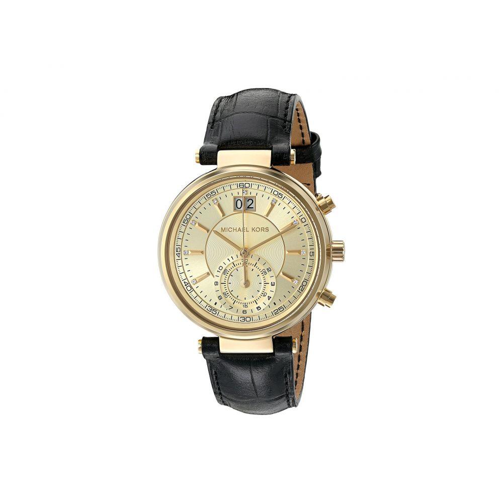 マイケル コース Michael Kors レディース 腕時計【Sawyer】MK2433 - Gold/Black