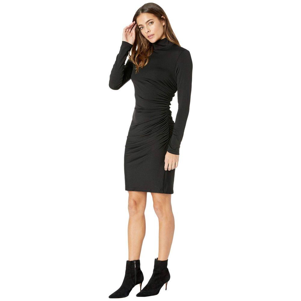 スサナ モナコ Susana Monaco レディース ワンピース・ドレス ワンピース【Gather Mock Neck Dress】Black