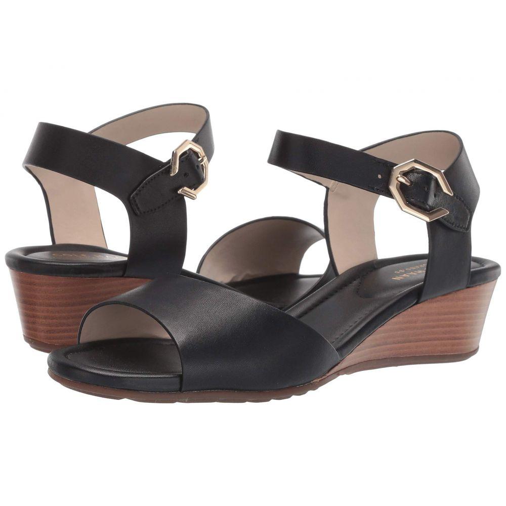 コールハーン Cole Haan レディース シューズ・靴 サンダル・ミュール【Evette Grand Wedge Sandal】Black Leather