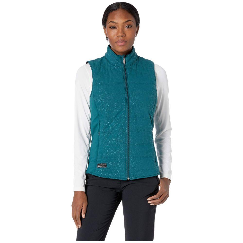 アディダス adidas Golf レディース トップス ベスト・ジレ【Reversible Quilted Vest】Mystery Green/Black