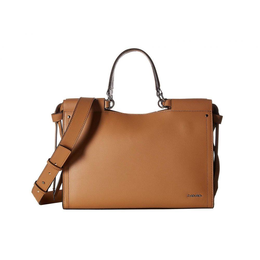 カルバンクライン Calvin Klein レディース バッグ ハンドバッグ【Callie Mercury Leather Satchel】Buff