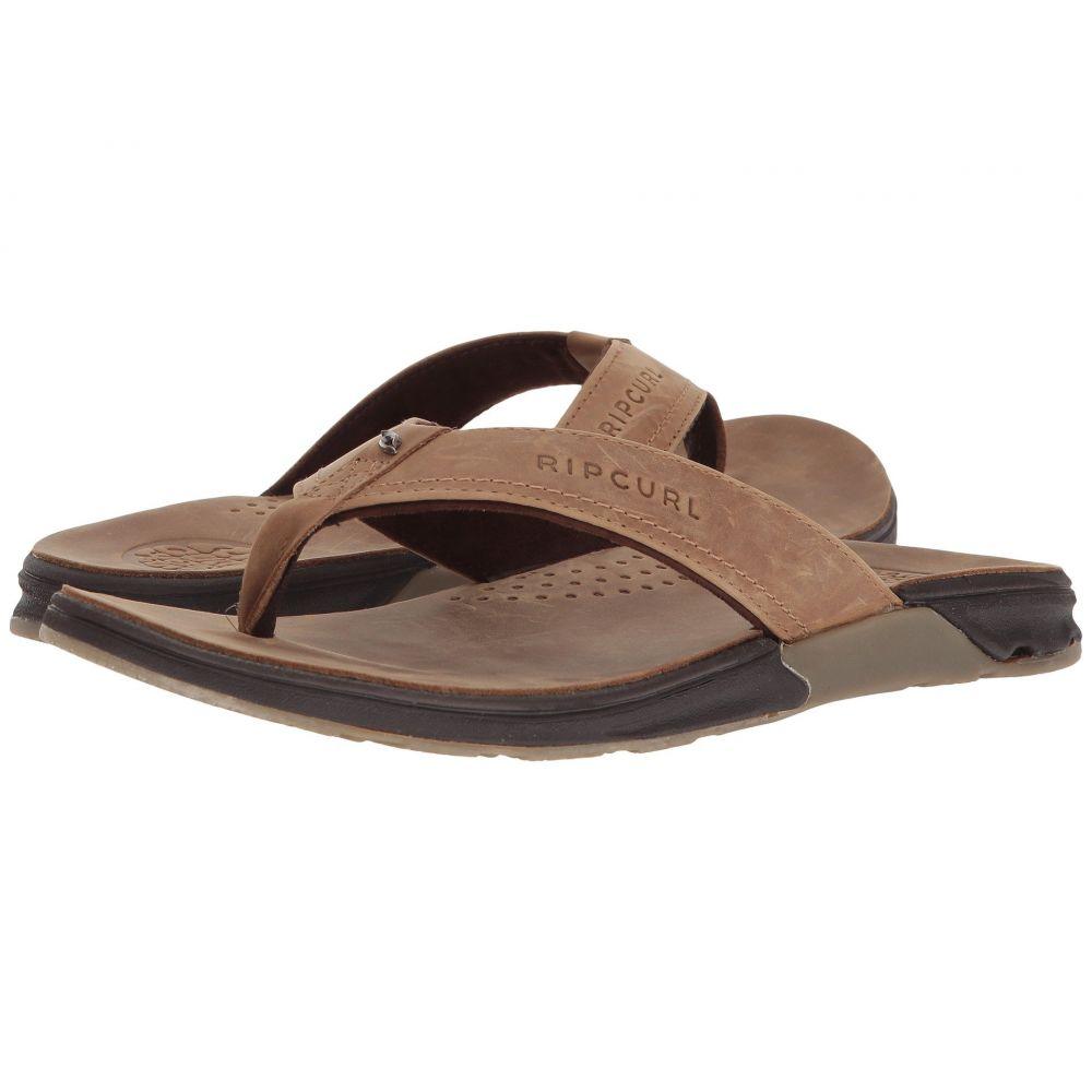 リップカール Rip Curl Curl Leather】Tan メンズ メンズ シューズ・靴 ビーチサンダル【Ultimate Leather】Tan, 大人女性の:e68968f7 --- sunward.msk.ru