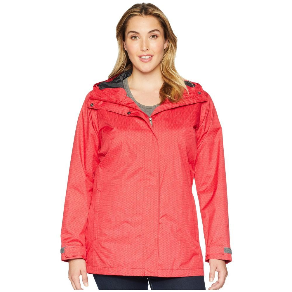コロンビア Columbia レディース アウター レインコート【Plus Size Splash A Little II Rain Jacket】Red Mercury Stars Print