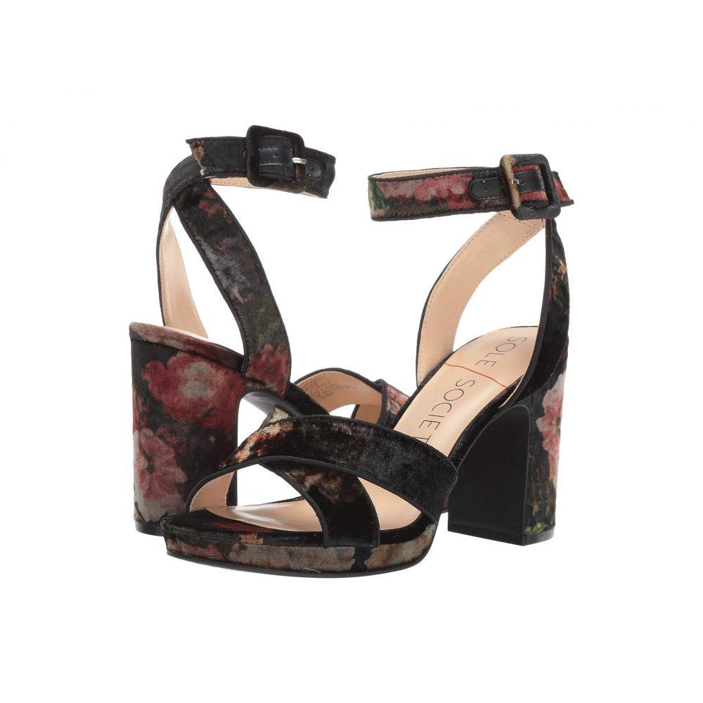 ソール ソサエティー SOLE / SOCIETY レディース シューズ・靴 サンダル・ミュール【Rafianna】Floral Velvet