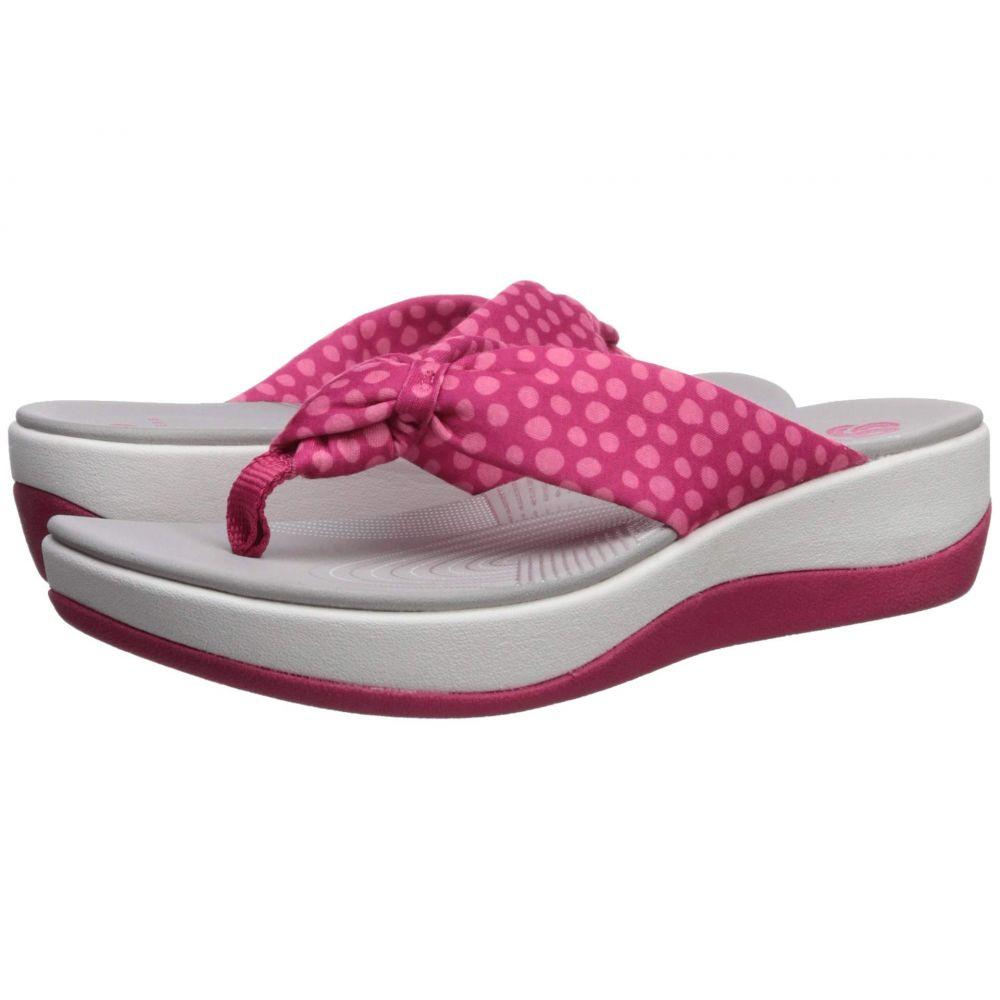 クラークス Clarks レディース シューズ・靴 ビーチサンダル【Arla Glison】Bright Rose Textile/Pink Dots