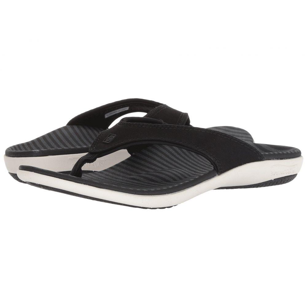 レディース Sandal】Black Canvas ビーチサンダル【Yumi シューズ・靴 Spenco スペンコ Stripe