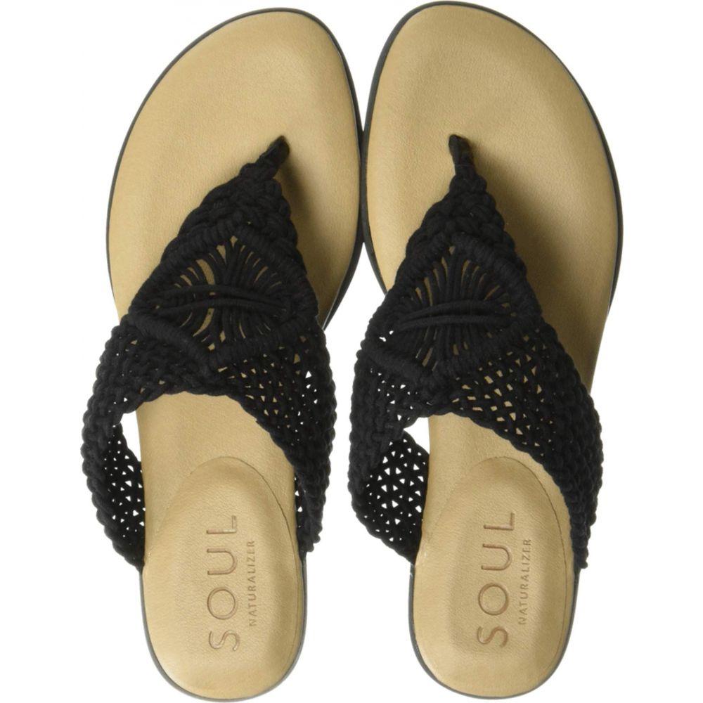 ソウル ナチュラライザー SOUL Naturalizer レディース シューズ・靴 ビーチサンダル【Relax】Black Macrame/Fabric