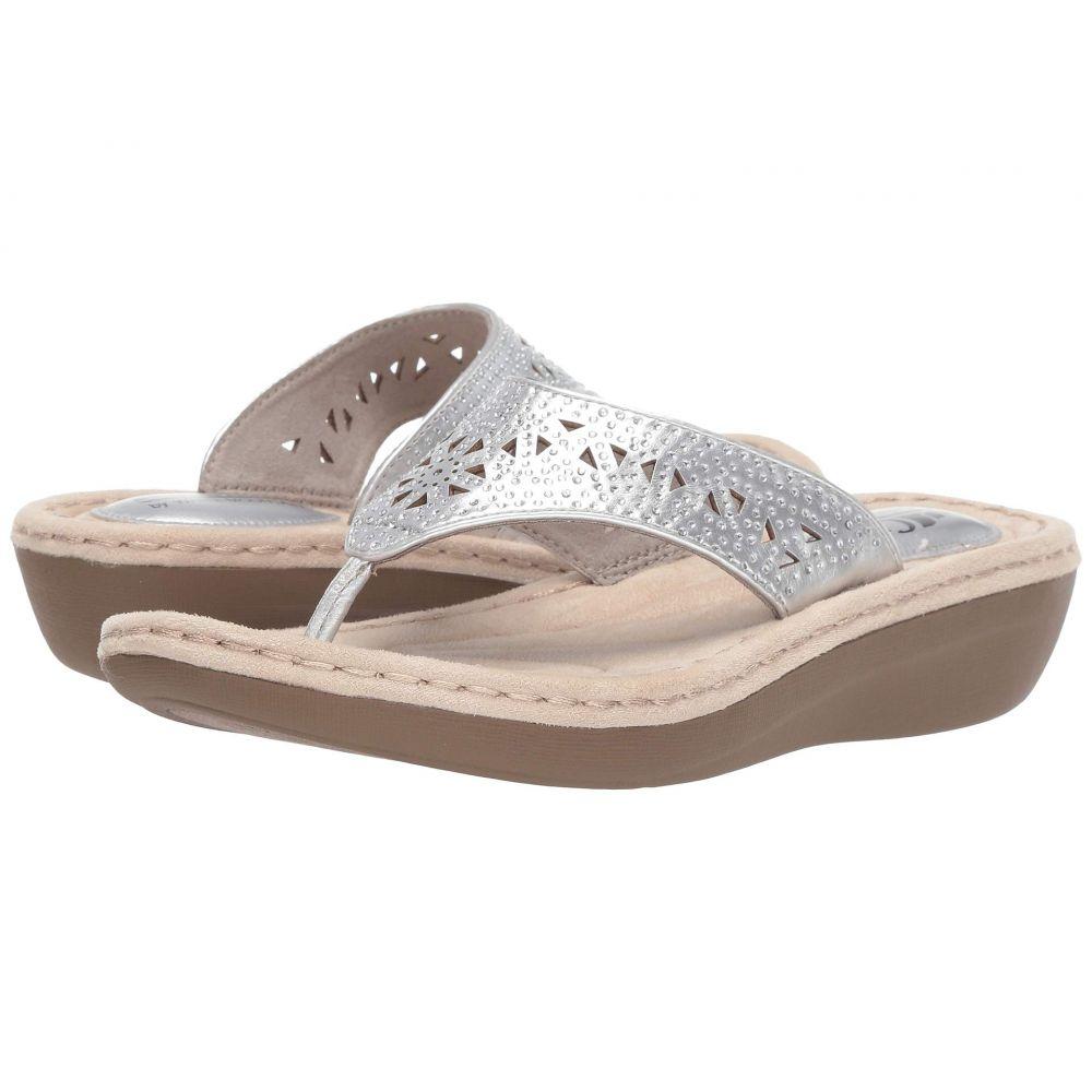 ホワイトマウンテン White Mountain レディース シューズ・靴 ビーチサンダル【Carlotta】Silver