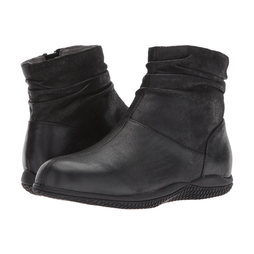ソフトウォーク SoftWalk レディース シューズ・靴 ブーツ【Hanover】Black Weathered Leather