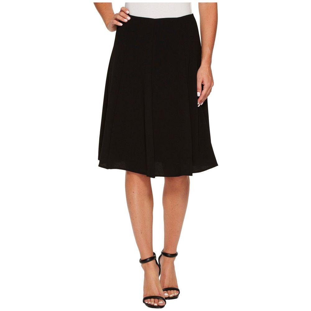シーシー CeCe レディース スカート ひざ丈スカート【Moss Crepe Knee Length Flounce Skirt】Rich Black