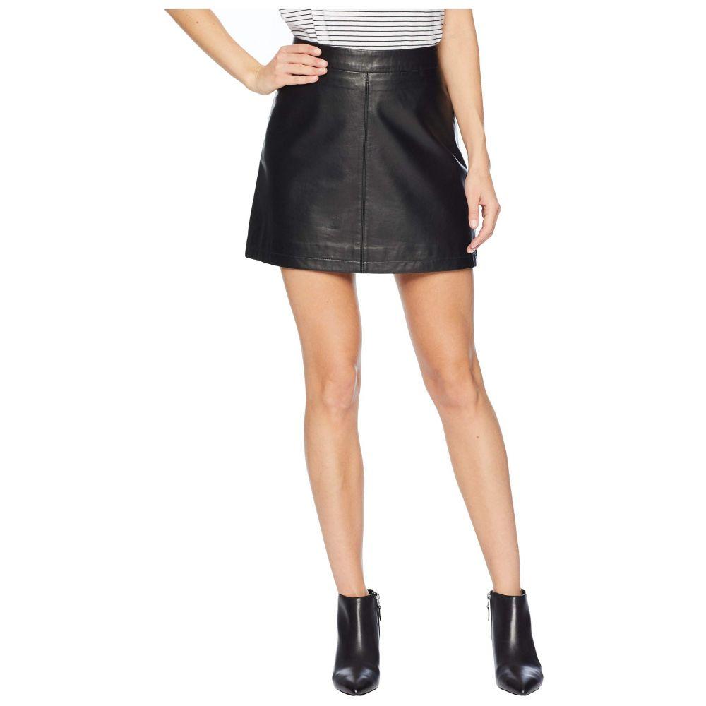 カップケーキ アンド カシミア Cupcakes and Cashmere レディース スカート ひざ丈スカート【Marrie Leather A-Line Skirt】Black