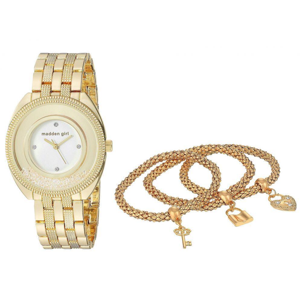 スティーブ マデン Steve Madden レディース ジュエリー・アクセサリー ブレスレット【Madden Girl Watch with Charm and Stone Bracelet Set SMGS017】Gold