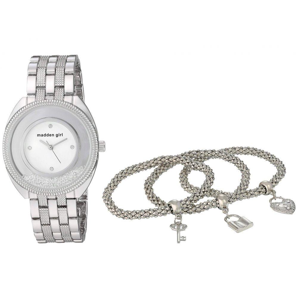 スティーブ マデン Steve Madden レディース ジュエリー・アクセサリー ブレスレット【Madden Girl Watch with Charm and Stone Bracelet Set SMGS017】Silver