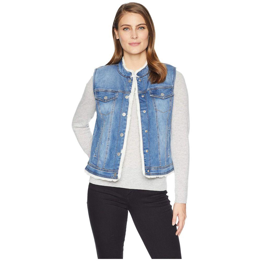 トリバル Tribal レディース トップス ベスト・ジレ【Reversible Jean Vest with Faux Fur Lining】Classic Blue