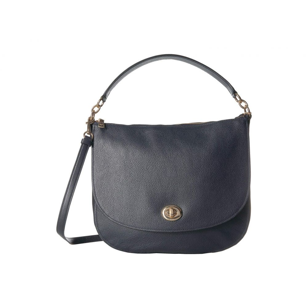 コーチ COACH レディース バッグ【Polished Pebble Updated Turnlock Hobo】LI/Navy