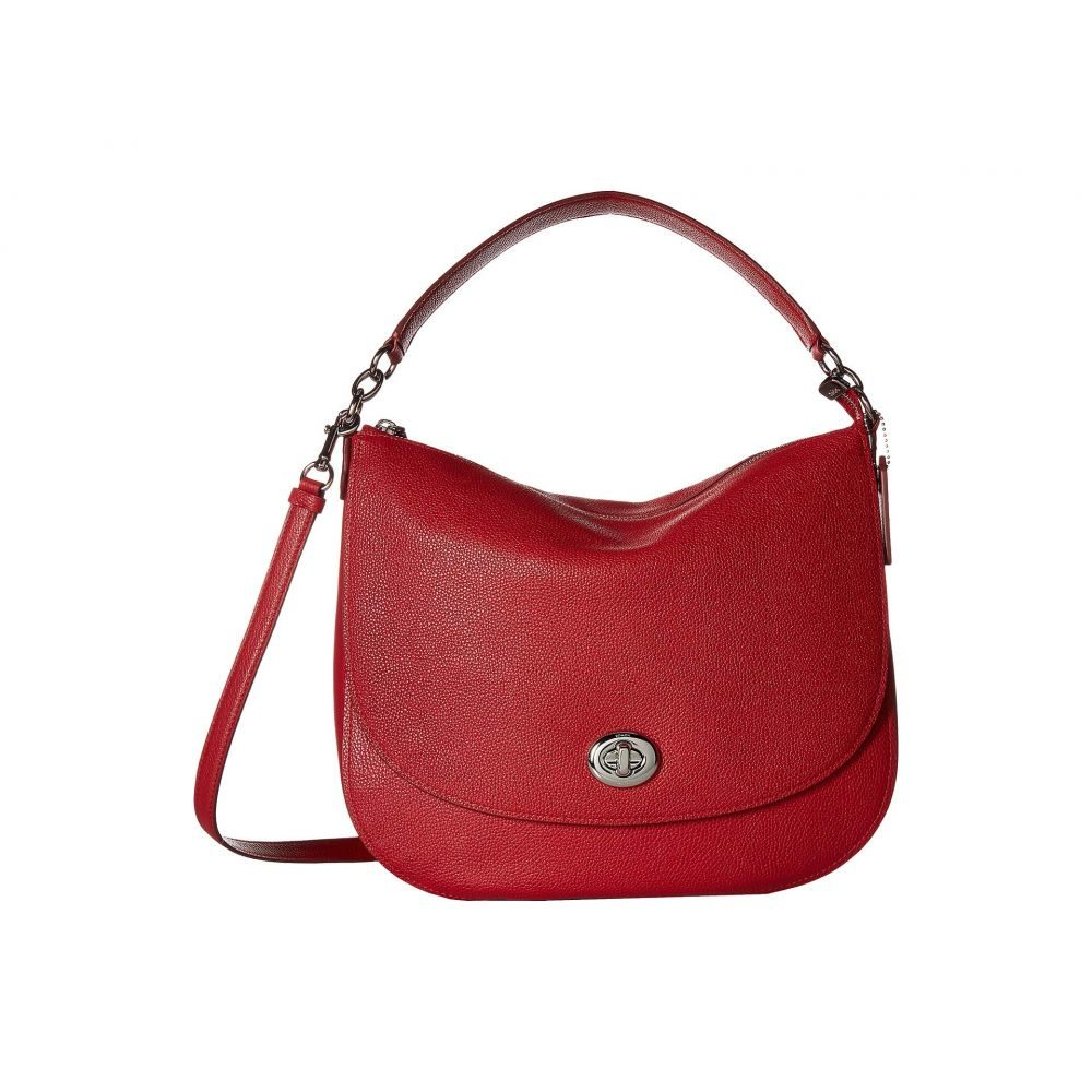 コーチ COACH レディース バッグ【Polished Pebble Updated Turnlock Hobo】SV/True Red