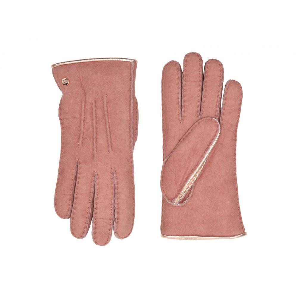 アグ UGG レディース 手袋・グローブ【Leather and Water Resistant Sheepskin Mixed Gloves】Lantana Pink