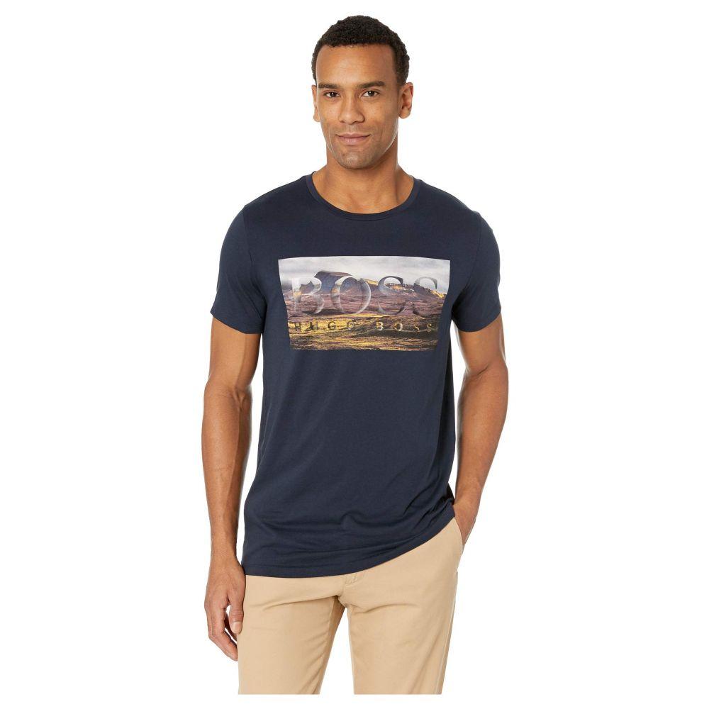 ヒューゴ ボス BOSS Hugo Boss メンズ トップス Tシャツ【Mountain Logo Graphic Tee】Navy