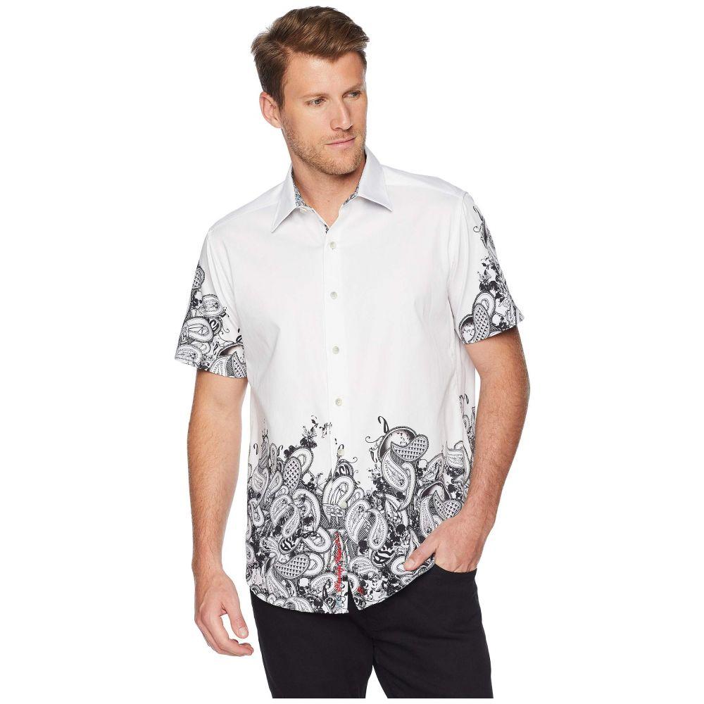 ロバートグラハム Robert Graham メンズ トップス 半袖シャツ【Hart Short Sleeve Woven Shirt】White