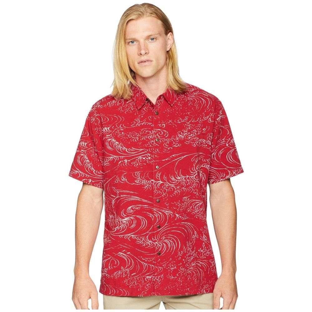 クイックシルバー Quiksilver Waterman メンズ トップス 半袖シャツ【Wind and Waves Short Sleeve Woven Shirt】Rio Red