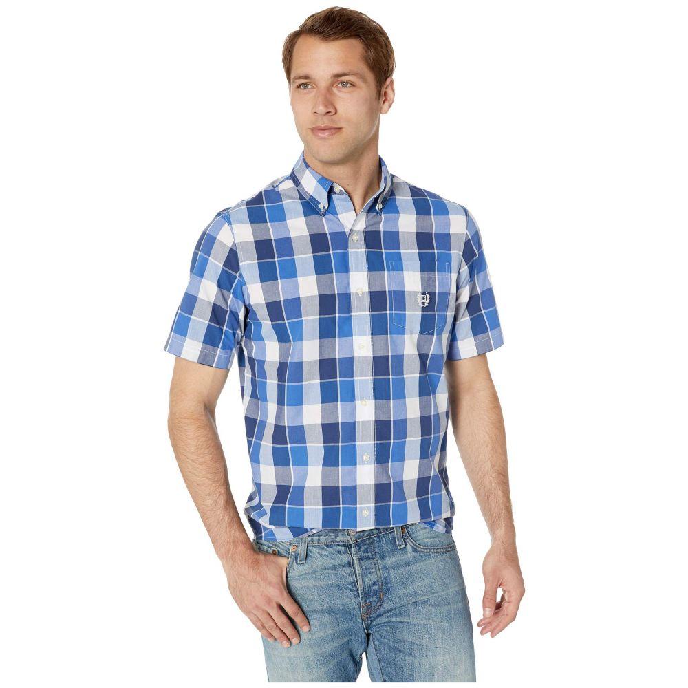 チャプス CHAPS メンズ トップス 半袖シャツ【Easy-Care Short-Sleeve Sport Shirt】Blue 2
