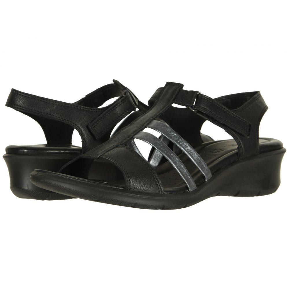 エコー ECCO レディース シューズ・靴 サンダル・ミュール【Felicia Ankle Sandal】Black/Black Cow Leather