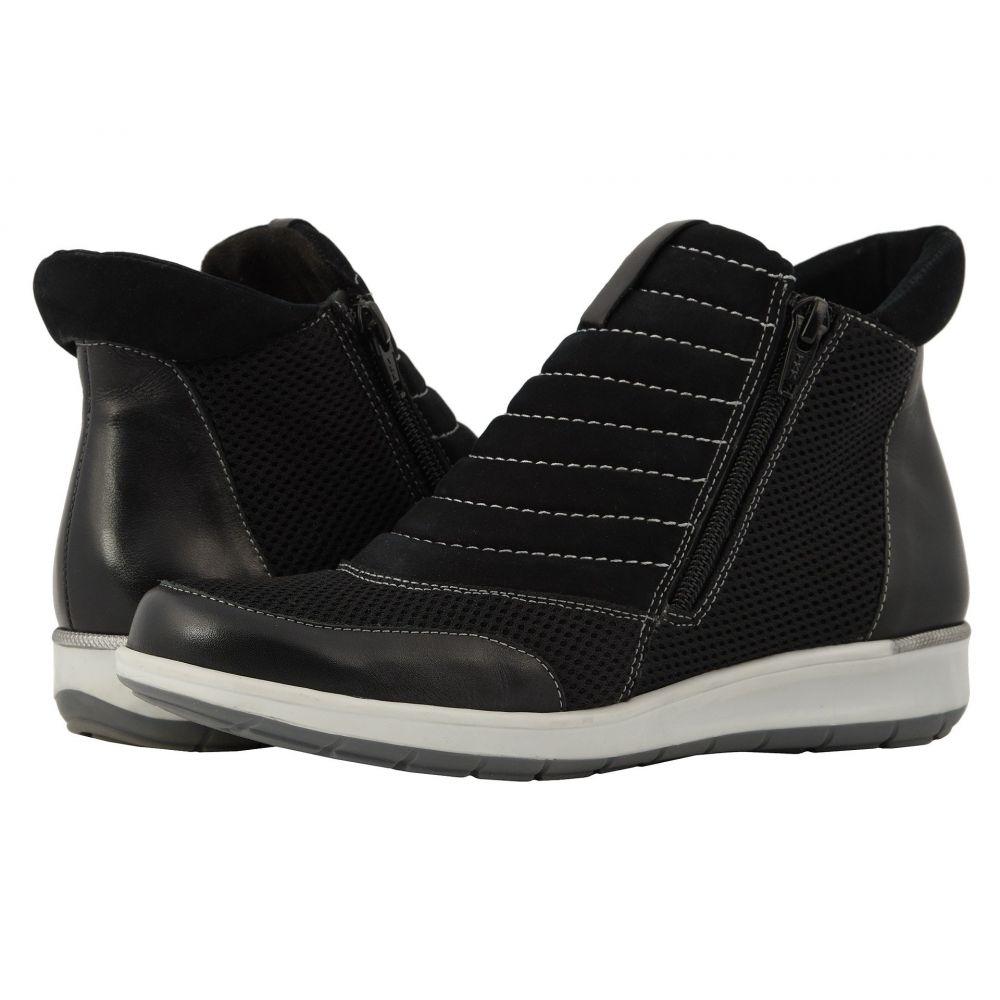 ウォーキング クレードル Walking Cradles レディース シューズ・靴 スニーカー【Ollie】Black Nubuck/Leather/Mesh