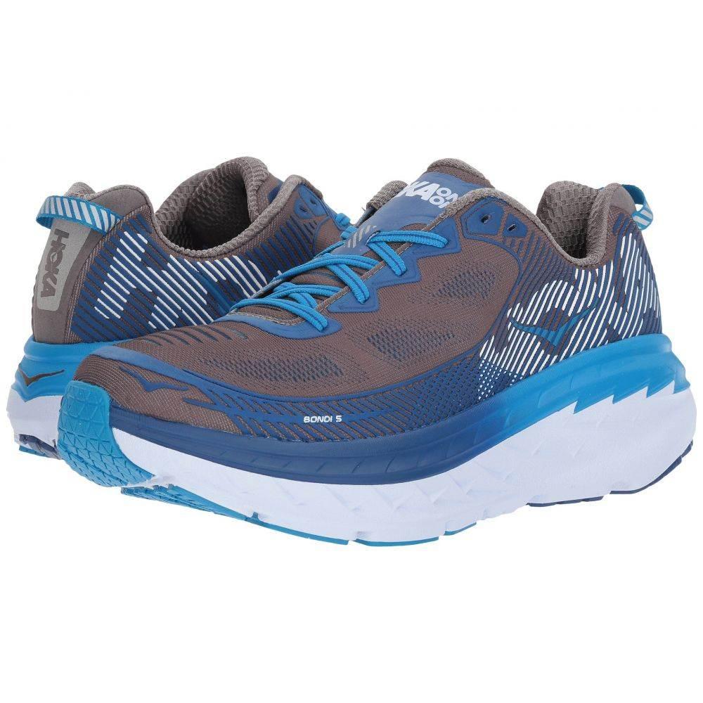 ホカ オネオネ Hoka One One メンズ ランニング・ウォーキング シューズ・靴【Bondi 5】Charcoal Gray/True Blue