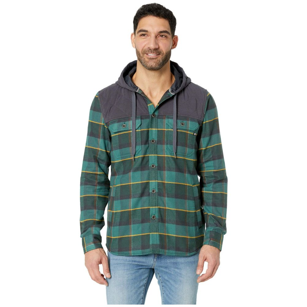 マーモット Marmot メンズ アウター【Silos Heavyweight Flannel Long Sleeve】Mallard Green/Dark Steel
