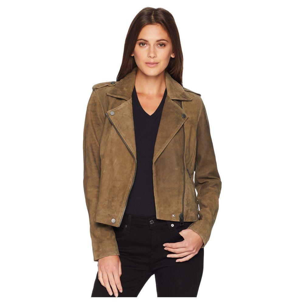 ラッキーブランド Lucky Brand レディース アウター レザージャケット【Helen Leather Moto Jacket】Khaki Olive