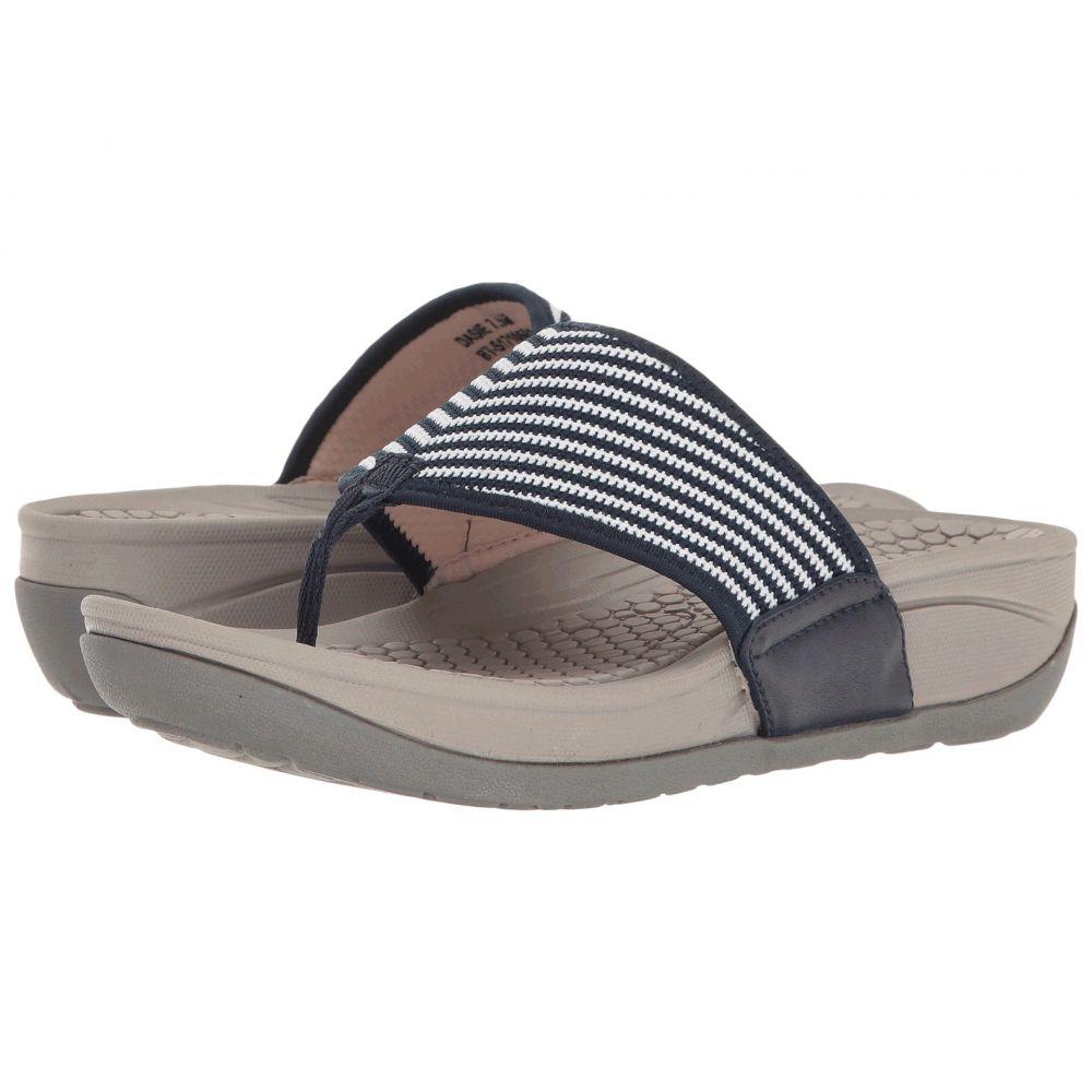 ベアトラップ Baretraps レディース シューズ・靴 ビーチサンダル【Dasie】Navy Striped Knit