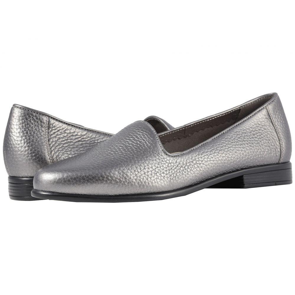 トロッターズ Trotters レディース シューズ・靴 ローファー・オックスフォード【Liz Tumbled】Pewter Very Soft Tumbled Leather
