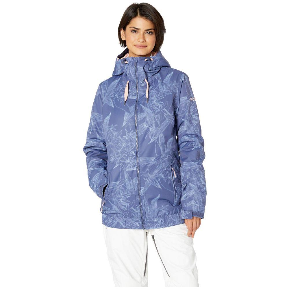 ロキシー Roxy レディース スキー・スノーボード アウター【Valley Hoodie 10K Jacket】Crown Blue Washed Floral