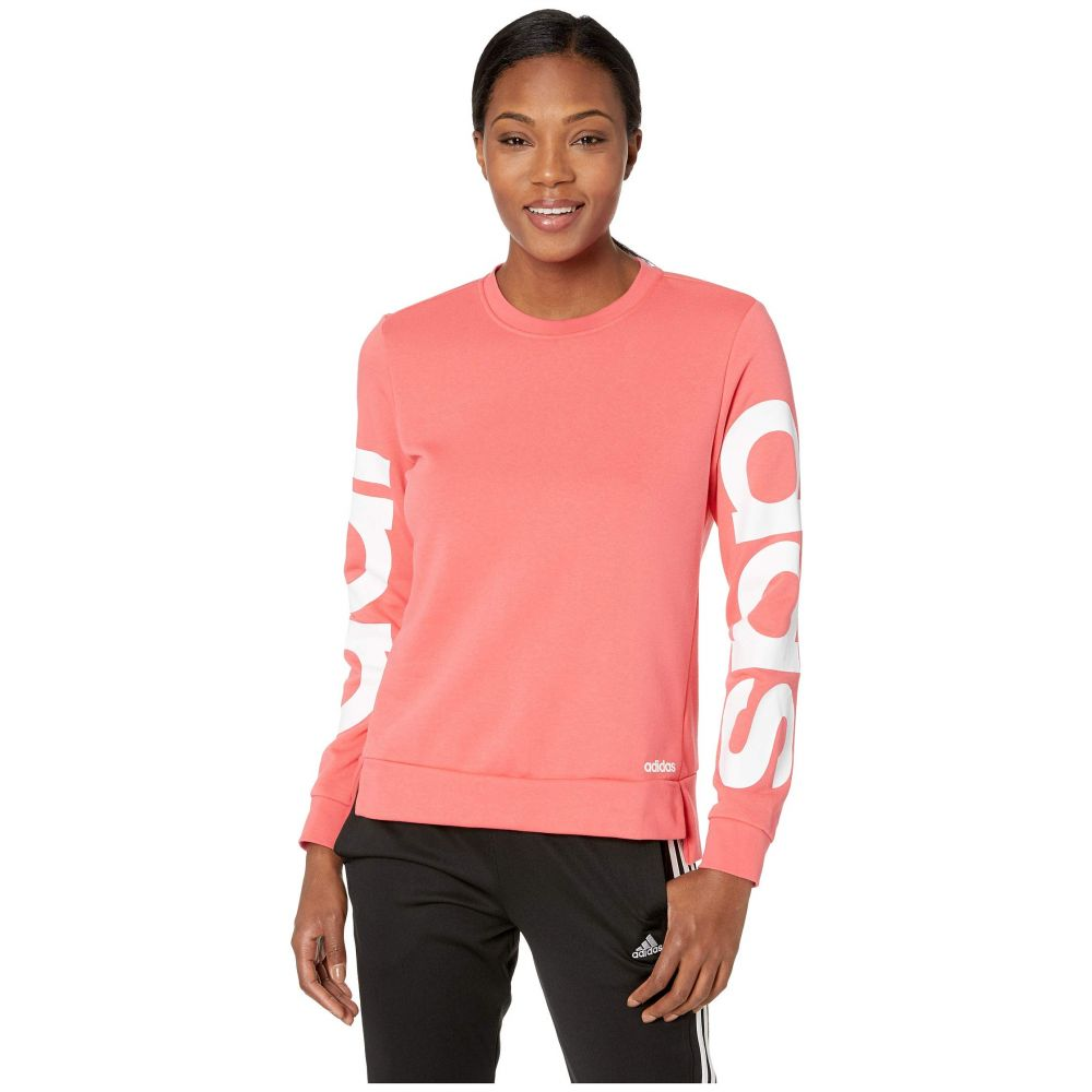 アディダス adidas レディース トップス スウェット・トレーナー【Essentials Branded Sweatshirt】Prism Pink/White