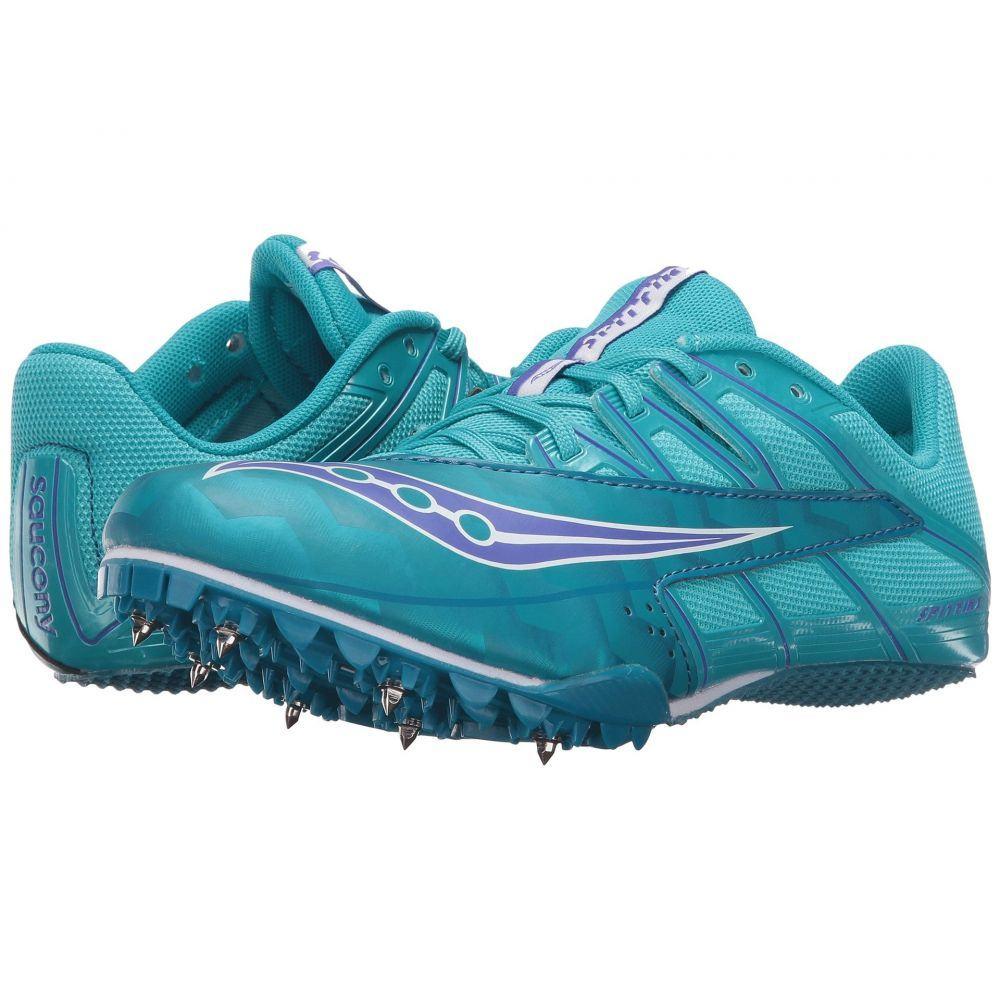 サッカニー Saucony レディース ランニング・ウォーキング シューズ・靴【Spitfire 4】Teal/Blue