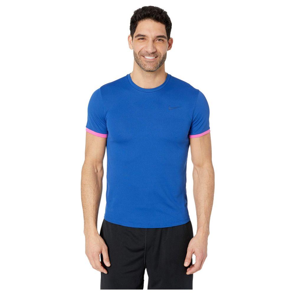 ナイキ Nike メンズ テニス トップス【Court Dri-FIT Short Sleeve Tennis Top】Indigo Force/Active Fuchsia/Indigo Force