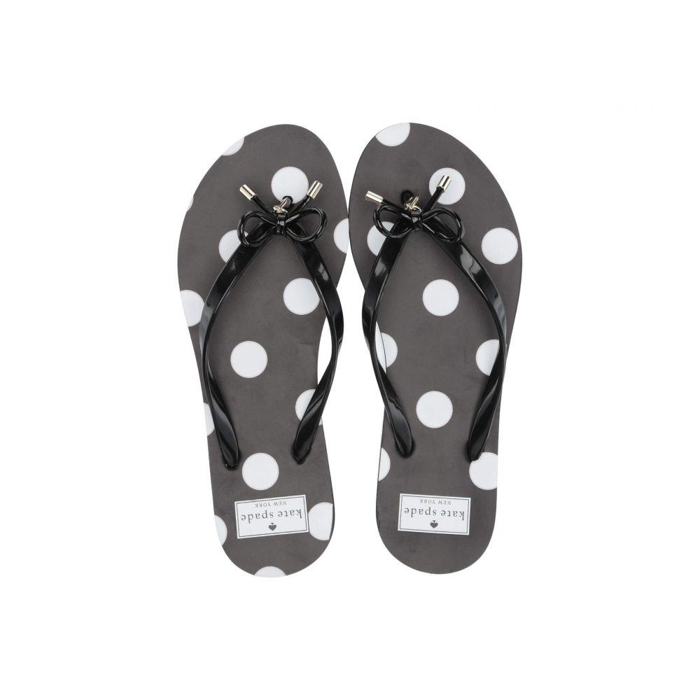 ケイト スペード Kate Spade New York レディース シューズ・靴 ビーチサンダル【Nova】White/Black Polka Dot